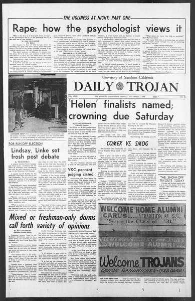 Daily Trojan, Vol. 58, No. 35, November 07, 1966