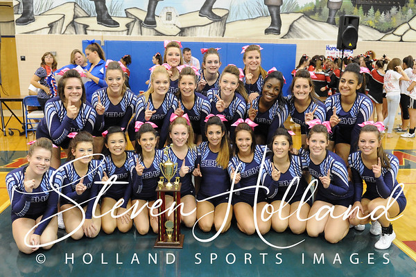 Cheer - Spirit Fest at Park View HS 10.10.2014 (by Steven Holland)