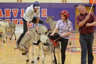 Donkey Basketball at Danville 2015