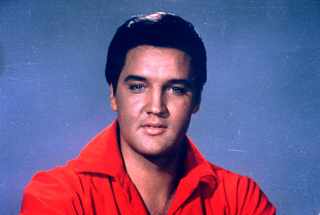 . Elvis Presley is seen in this 1964 portrait. (AP Photo)