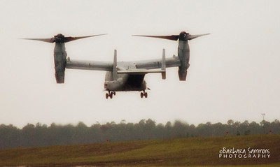 The Osprey - Half Airplane/Half Helicopter; stationed at Cape Fear Jetport