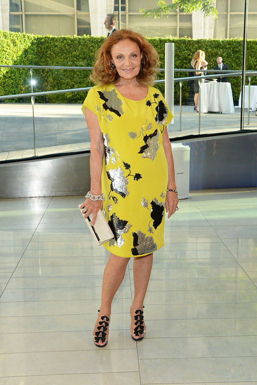. Designer Diane von Furstenberg attends the 2014 CFDA fashion awards at Alice Tully Hall, Lincoln Center on June 2, 2014 in New York City.  (Photo by Larry Busacca/Getty Images)