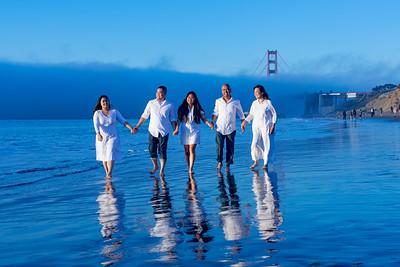 Diangson family portraits / Baker Beach SF