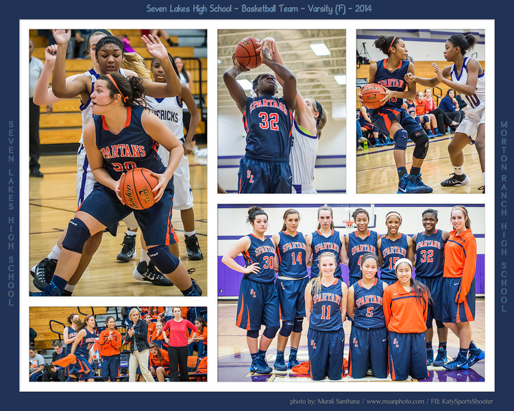 01-10-2014 - Basketball (F) - Seven Lakes High School VS Morton Ranch High School