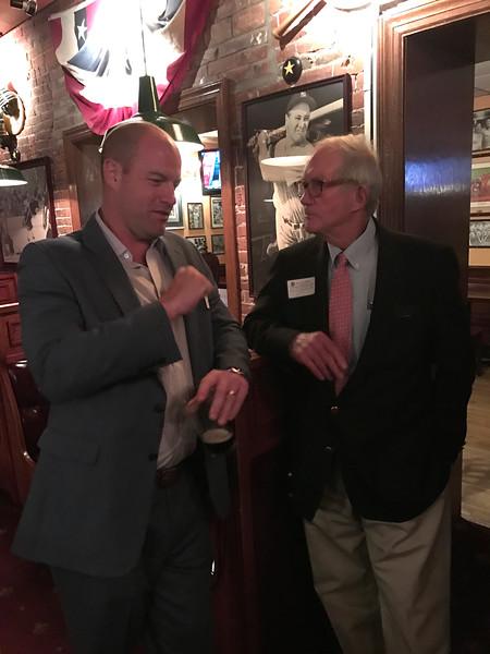 John Hartnett '95, and George Trautman '98H, P'75, '81, '82, GP'03