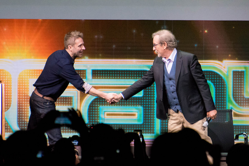 Chris Hardwick and Steven Spielberg