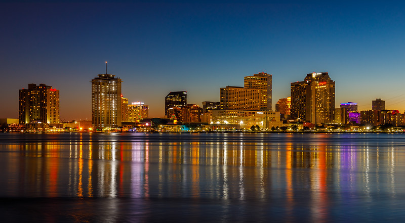 The Mississippi River and the New Orleans Skyline