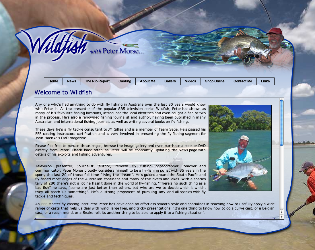 """Morsie is a legend down under & has fished up and down his fabulous continent. I had the privilege of fishing with him in 2001 & he was an inspiration. Check out his site at <a href=""""http://www.wildfish.com.au/"""">http://www.wildfish.com.au/</a>"""