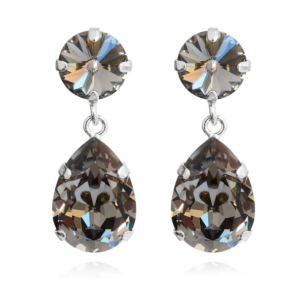 Classic Drop Earrings / Black Diamond / Rhodium