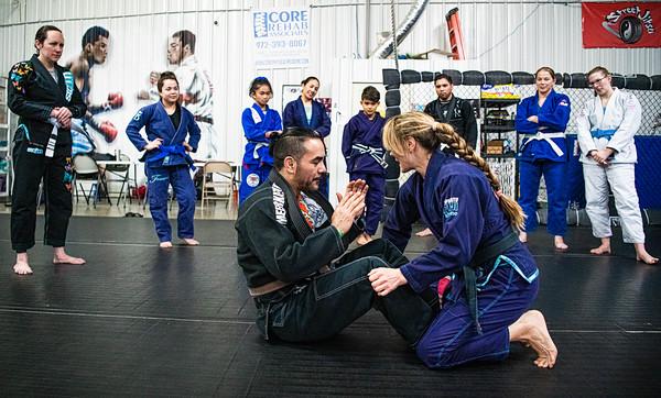 Sophia McDermott seminar, Street Jitsu, Roanoke, TX, 2/2/2020
