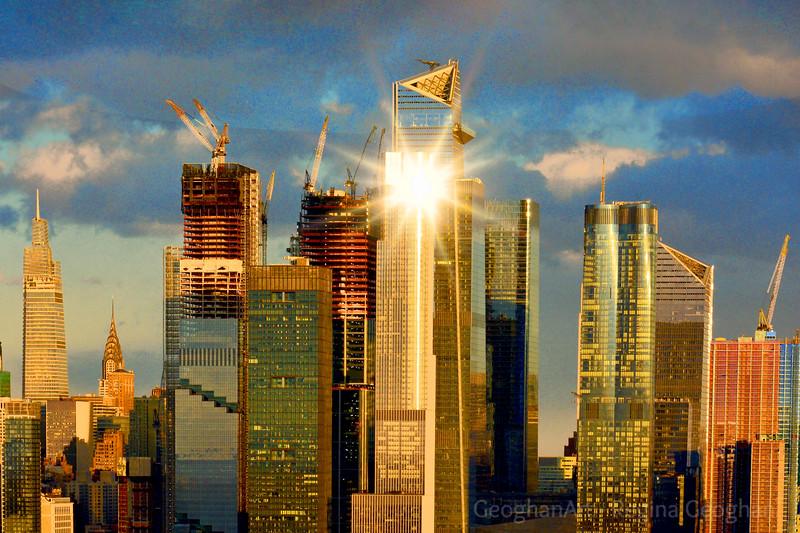 NYC Hudson Yards Sundown Starburst