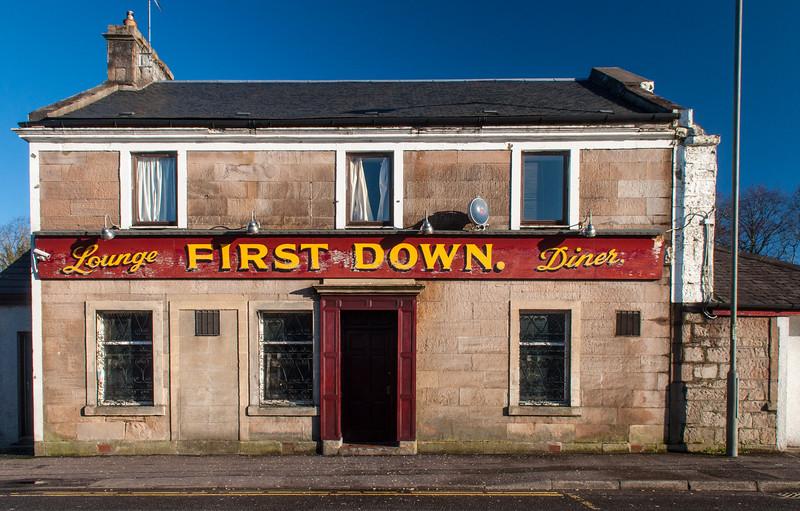 Traditional pub bar in Scotland