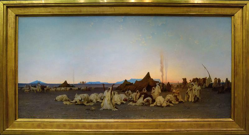 Gustave Guillaumet, Evening prayer in the Sahara , 1863