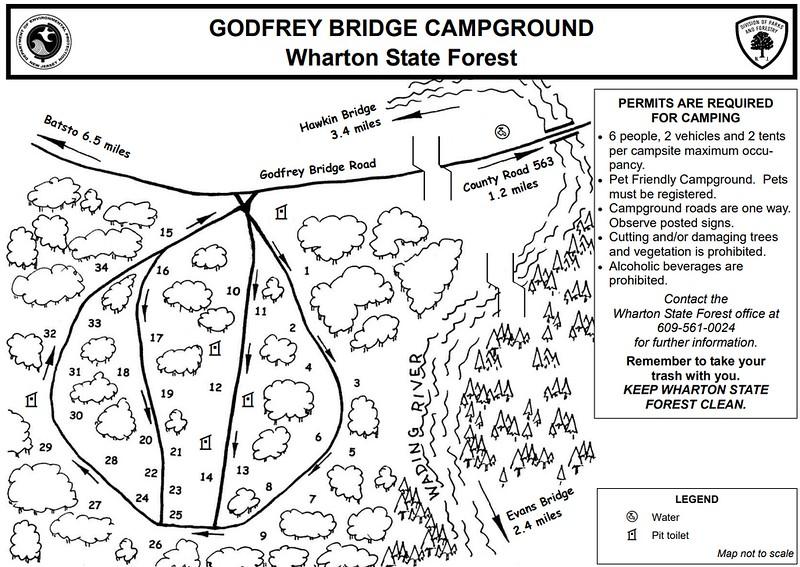 Wharton State Forest (Godfrey Bridge Campground)