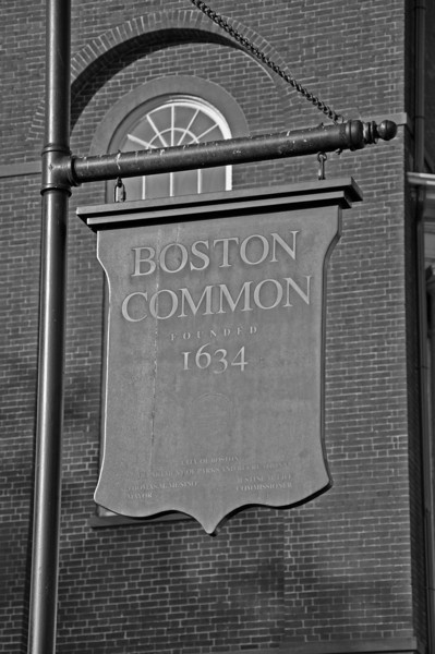 Boston - Boston Common Sign - black and white.jpg