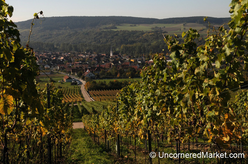 Looking Down on the Town of Thüngersheim - Franconia, Germany