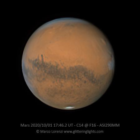 Mars in Opposition October 1, 2020
