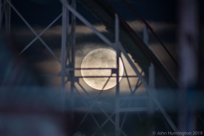 Coney Island Supermoon, October 15, 2016