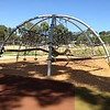 hexagonal steel and rope net climbing structure
