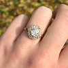 1.97ctw Antique Cluster Ring, GIA G SI2 13