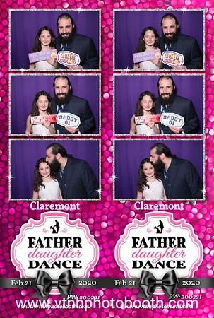 Photo Strips - 2/21/20 - Claremont Father/Daughter Dance