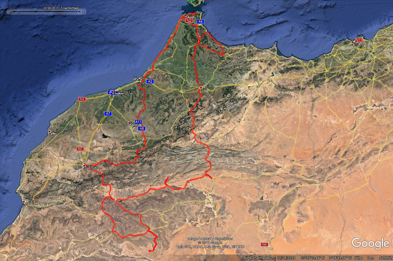 Morocco, Tanger to Zagora and back, 2.800km