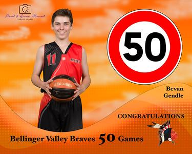BRAVES 50 GAMES AWARDS