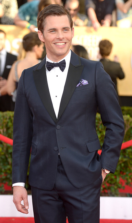 . James Marsden arrives at the 20th Annual Screen Actors Guild Awards  at the Shrine Auditorium in Los Angeles, California on Saturday January 18, 2014 (Photo by Michael Owen Baker / Los Angeles Daily News)