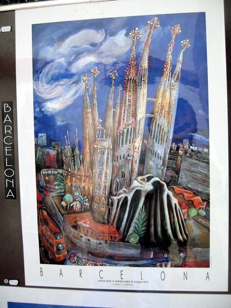 Poster of Antoni Gaudí's Sagrada Familia