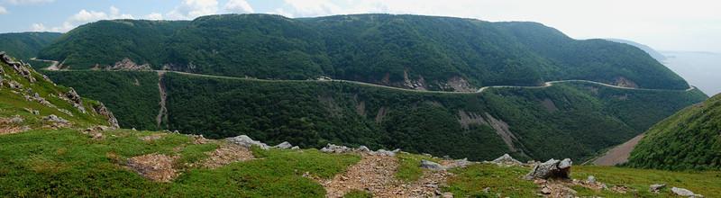 """Cabot Trail vu du sentier """"Skyline"""" - Parc national des Hautes-Terres du Cap Breton"""