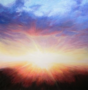 """""""Here comes the sun"""" (acrylic on canvas) by Claudine Carmel"""