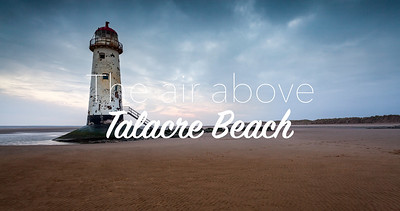 The air above: Talacre Beach