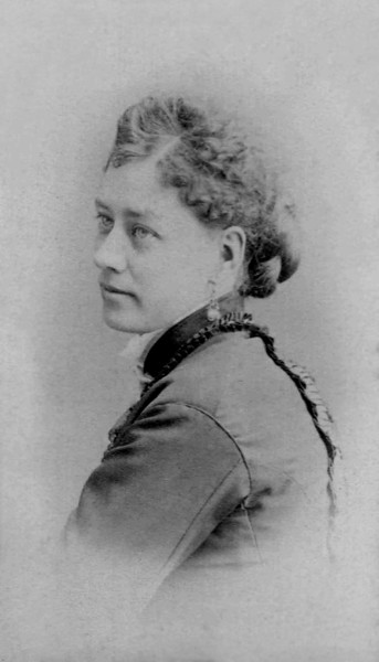 Taken in Oberlin, OH, uncaptioned, but likely one of the six daughters of John Chidgey and Eliza Chalker, other than Mary Chidgey Mathivet.