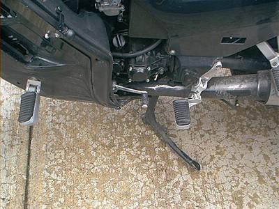 GenMar footpeg lowering brackets, Nedrow hwy pegs