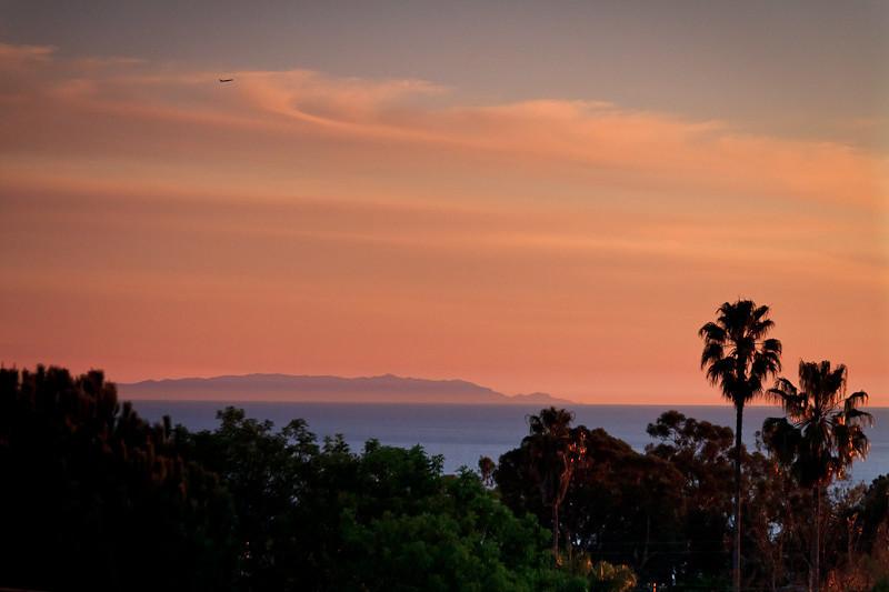 January 4 - Sunset over Palos Verdes peninsula