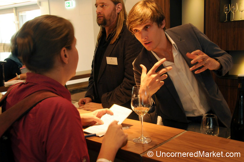 Discussing German Wines - Berlin, Germany