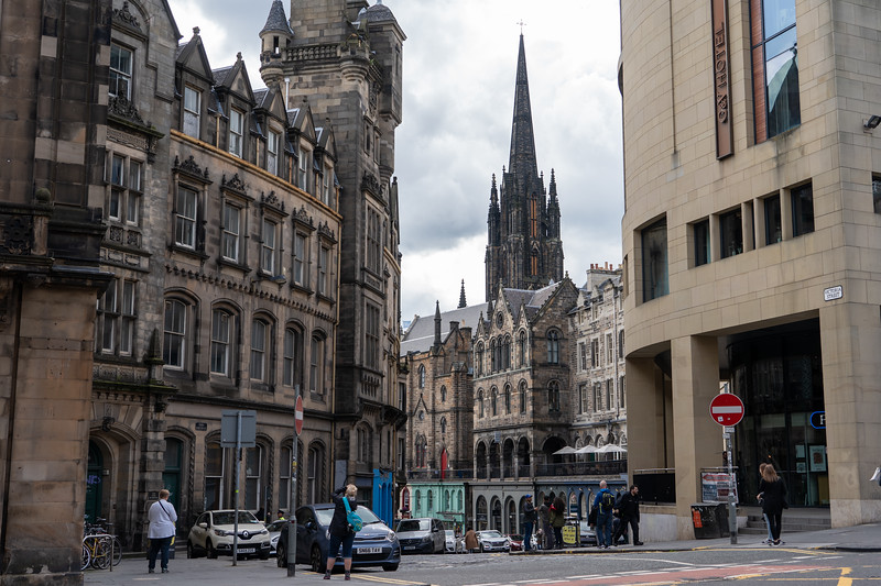 Top of Victoria Street in Edinburgh