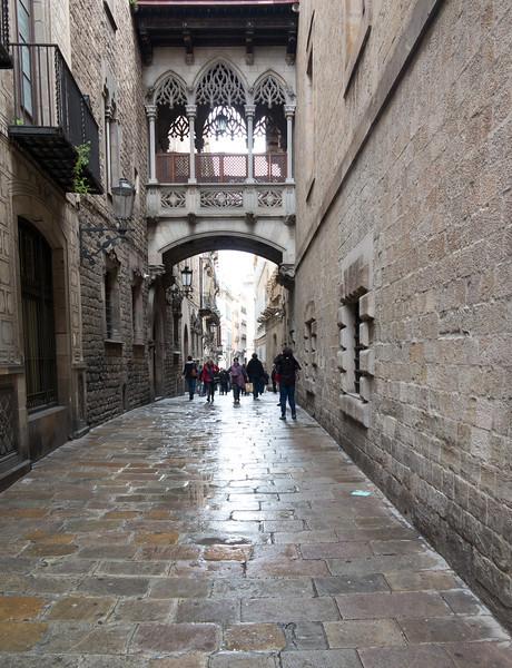 Barcelona, Barri Gotic, Carrer del Bisbe.