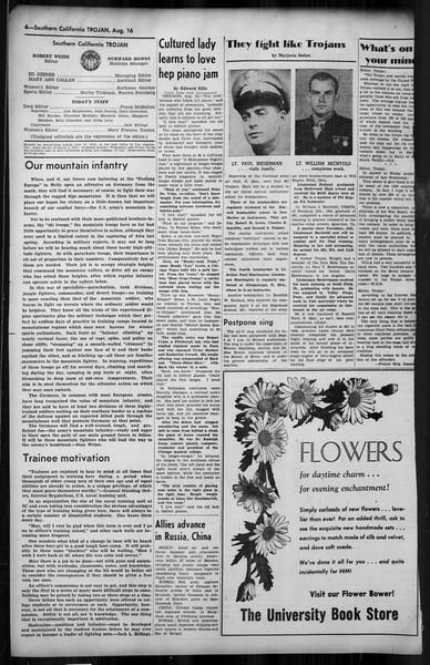 Southern California Trojan, Vol. 35, No. 19, August 16, 1943
