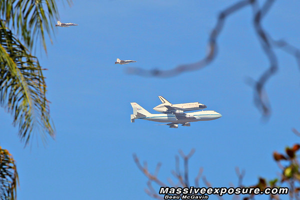 Space Shuttle fly over