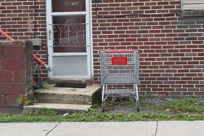 Littered Shopping Cart, Greenwood St, Tamaqua (6-22-2011)