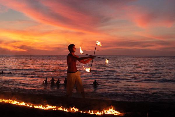 Beach Fire Poi
