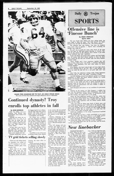 Daily Trojan, Vol. 61, No. 4, September 18, 1969