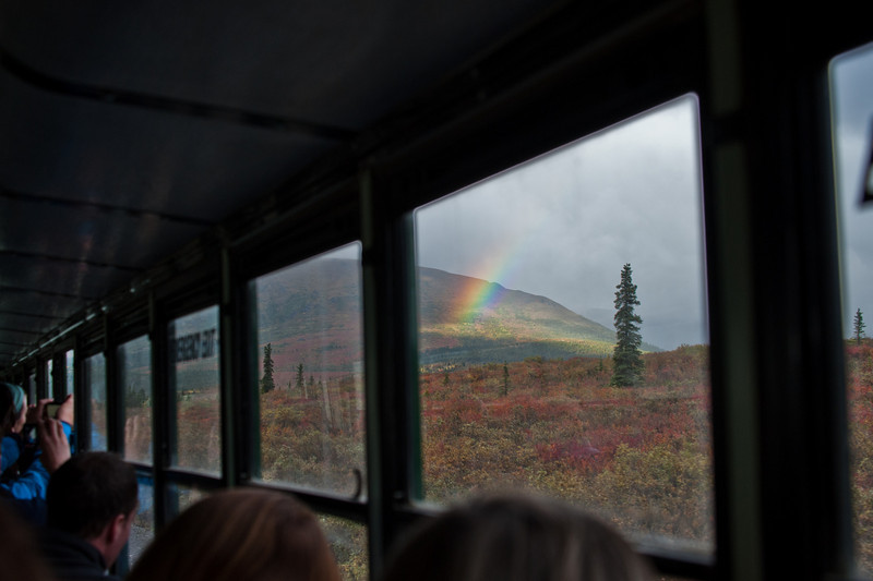 Another rainbow - shot through the bus window.