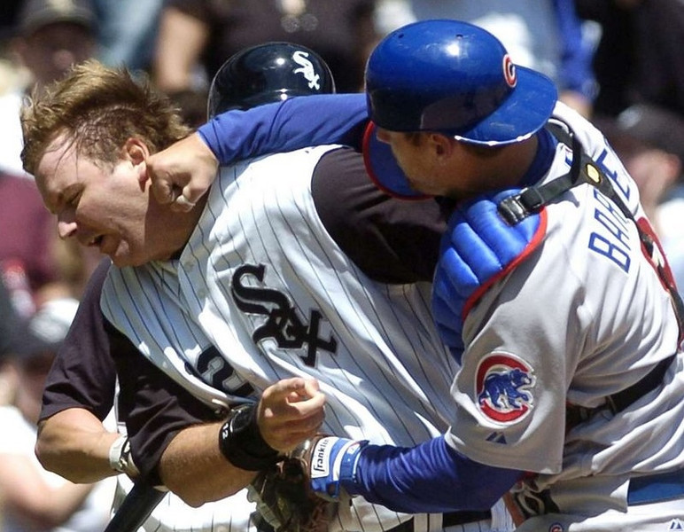 """. <p><b> Former Twin A.J. Pierzynski has agreed to a free-agent deal with the Boston Red Sox. The veteran is expected to capably fill the world champions� void at � </b> <p> A. Catcher <p> B. First base <p> C. Designated Ass <p><b><a href=\'http://espn.go.com/boston/mlb/story/_/id/10072049/boston-red-sox-reach-terms-free-agent-catcher-aj-pierzynski\' target=\""""_blank\"""">HUH?</a></b> <p>    (AP Photo/Daily Southtown, David Banks)"""