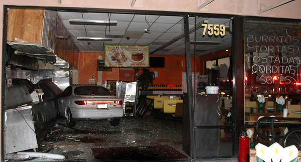 LAFD_CAR INTO RESTAURANT
