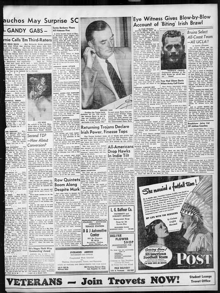Daily Trojan, Vol. 38, No. 56, December 04, 1946