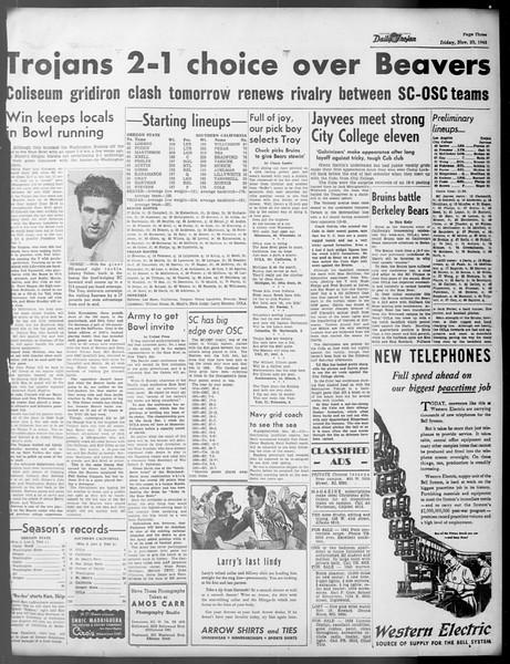 Daily Trojan, Vol. 37, No. 16, November 23, 1945