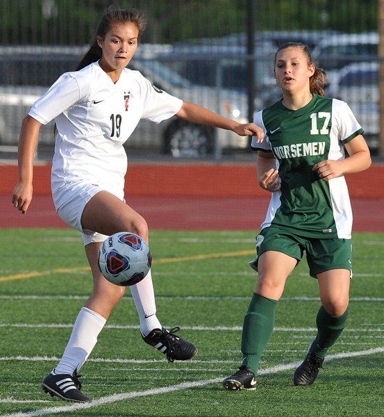 The Troy Colts defeated Grosse Pointe North 5-0 to win the MHSAA D1 Regional played on Thursday June 7, 2018 at Troy Athens HS.  The Colts will play Novi in next Tuesday's Semi-final match at Stoney Creek HS.  (Oakland Press photo by Ken Swart)