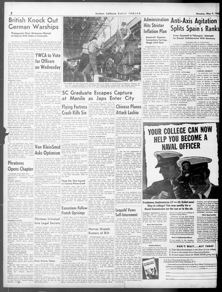 Daily Trojan, Vol. 33, No. 134, May 02, 1942